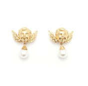 Bill Skinner Women's 18ct Gold Plated Cherub Stud Earrings