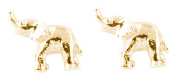Bill Skinner Women's 18ct Yellow Gold Plated Elephant Stud Earrings
