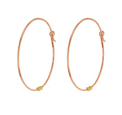 Laura Lee Jewellery Women's 9ct Rose Gold Medium Hoop Earrings