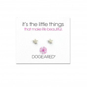 Dogeared 925 Sterling Silver It's The Little Things Star Stud Earrings