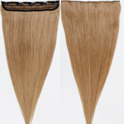 s-noilite 50cm 50g 3/4 Full Head 1 Piece 5 Clips Clip in Remy Human Hair Extensions Silky Straight #27 Dark Blonde