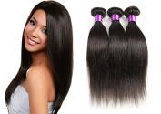 3 Bundle Virgin Straight Hair Human Hair Extension Brazilian Hair Unprocessed Natural Black