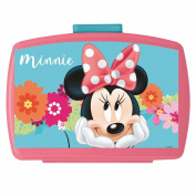 Disney Minnie Mouse - Snack Box Container Lunchbox with Insert Mouse Bloom