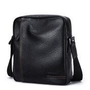 AIAIMEI Mens Genuine Leather Shoulder Bag Handbags Briefcase Messenger Bag for iPad Mini