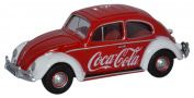 OXFORD DIECAST 76VWB009CC Volkswagen Beetle Coca Cola