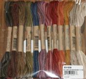 Vintage Hues - Valdani 6-Strand embroidery floss/thread - 12 skeins/10 yards each
