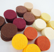 128 Wool Blend Felt 2.5cm Circles -Kitchen Spices Colours - Made in USA - OTR Felt