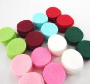 128 Wool Blend Felt 2.5cm Circles - Jingle Bell Colours - Made in USA - OTR Felt