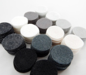 128 Wool Blend Felt 2.5cm Circles - Disco Ball Colours - Made in USA - OTR Felt
