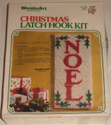 Wonderart Holly Noel 30cm X 70cm Christmas Latch Hook Kit