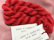 SILK & IVORY- REALLY RED 11- 1 SKEINS WITH THIS LISTING