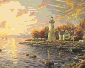 Plaid Creates Paint by Number Kit (41cm by 50cm ), 22725 Serenity Cove by Thomas Kinkade