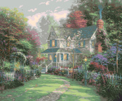 Plaid Creates Paint by Number Kit (41cm by 50cm ), 22724 Victorian Garden II by Thomas Kinkade