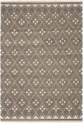Safavieh Natural Kilim Collection NKM316A Flatweave Brown and Ivory Wool Area Rug