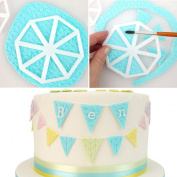 3 Piece Triangle Flag Cookie Cutter Cake Topper Decorating Mould Tool