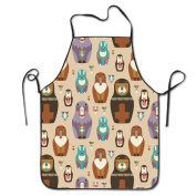 Animals Russian Dolls Adjustable Apron For Kitchen BBQ Barbecue Cooking Lady's Men's Great Gift For Wife Ladies Men Boyfriend