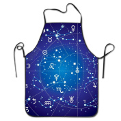Zodiac Original Adjustable Apron For Grilling Bacon Chef Waitress Great Gift For Wife Ladies Men Boyfriend
