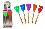 Diamond Visions 11-1843 Silicone Spatula Turner with Bamboo Handle MultiPack in Assorted Colours