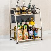 TRRE@ Kitchen Shelf Stainless Steel Floor Sauce Shelf Shelf Shelf Kitchen Shelf Kitchen Storage Under Shelf Storage