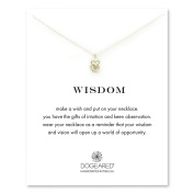 Dogeared 925 Sterling Silver Wisdom Owl Charm Necklace of Length 45.72 cm