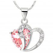 JewelleryClub Heart Necklace Sterling Silver Elements Crystal Love Pendant Necklace for Women