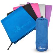 Proworks Microfibre Sports Towel with Bag Blue XXL [PW-1000-Z080]