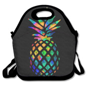 Watercolour Pineapple Lunch Tote Insulated Reusable Picnic Lunch Bags Boxes For Men Women Adults Kids Toddler Nurses