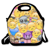 Emoji Emoticon Lunch Tote Insulated Reusable Picnic Lunch Bags Boxes