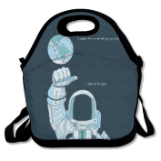 Flying XIE Lunch Tote Bag Astronauts In The Universe Insulated Lunch Box Food Bag Pouch Tote Bag For Adults, Kids School Work Picnic Reusable Container Neoprene