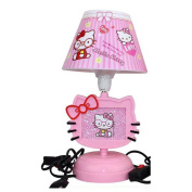 [Newest Generation] Upgrade Hello Kitty Cat Anime LED Night Lights Bedside Lamp, Kid's Fun Character Lamp Switch Control With Plug, Desk Night Table Reading Lantern Pink
