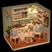 DIY Wooden Doll House Toys Dollhouse Miniature Box Kit