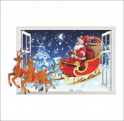 Singleluci Removable Christmas Wall Sticker Wall Glass Window Decoration