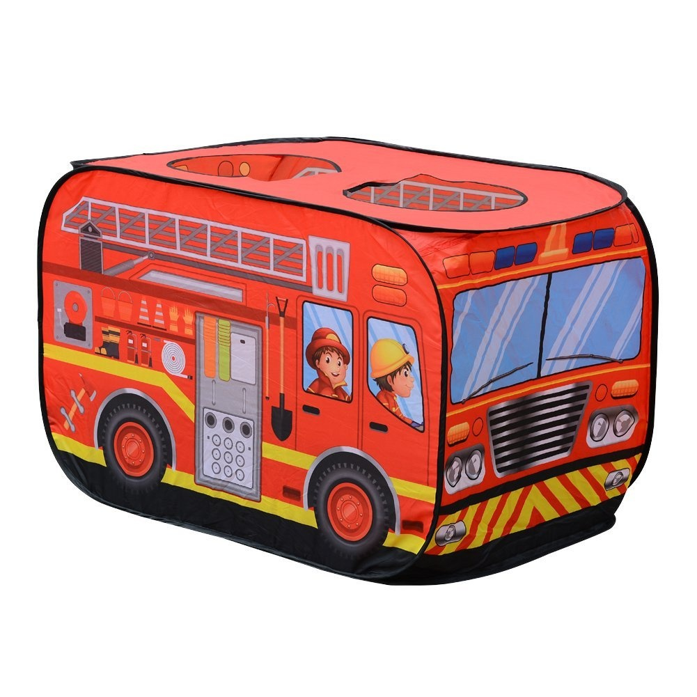 the best attitude a3320 a0bb6 Kid Play Tent House Children Fire Engine Toy Playground Indoor Outdoor  Vehicle Pop-up Truck Playhouse by Acekid