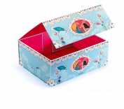Djeco Storage Box, Romantic for Kids Jewellery and Toy Organiser