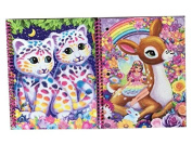 Lisa Frank Rainbow Glitter Flowers Fawn Deer Fairy Girl Rainbow & SASHA & SHANTI LEOPARDS Spiral Notebooks Journal
