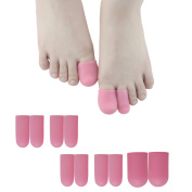Sumifun Toe Caps – Toe Sleeves For Hammer Toes Gel Finger and Toe Tubes Toes Friction Pain Relief
