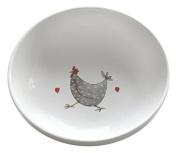 Jersey Pottery Wacky Chicken Rise & Shine Small Bowl, White