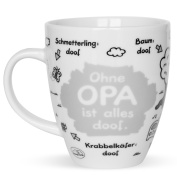 "'Sheepworld 45136 Printed Mug ""Ohne Opa ist alles doof Porcelain Cake Stand, Multi-Colour, 9.5 x 9.5 x 11 cm"