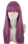 Topcosplay Long Straight Anime Cosplay Wigs Natural Halloween Costume Purple Fancy Wig