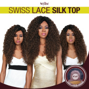The Stylist Synthetic Lace Front Wig Swiss Lace Silk Top Curly Curls