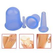 YOUFAN 4 Size of Silicone Cupping Therapy Set Massage Cupping Vacuum Therapy Rubber Cup Massage Body Face Back Legs Cups