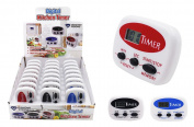 Diamond Visions 11-1911 Digital Kitchen Timer MultiPack in Assorted Colours