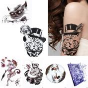 6 Sheets Cute Cartoon Cat Temporary Tattoo Beauty Body Makeup Arm Waist Art Sticker
