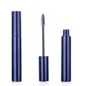 6PCS 10ML Reusable Empty Eyelash Growth Oil Mascara Bottle Tube Case Holder Container with Brush for Beauty and Makeup Blue
