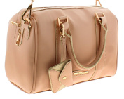 New Ladies/Womens Nude Pink Small Bowling Style Bags - Nude Pink - UK SIZES 1-1