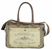 Sunsa Women's Vintage Bag Shopper Shoulder Bag Handbag made of Canvas with Leather 51785
