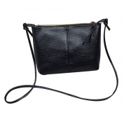 Women Ladies PU Leather Fashion Shoulder Bag Messenger Crossbody Bag for Daily Use Dating Party Black