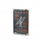 Stifflexible Surf Rider Notebook Blue 5X8.25, 192 Pages, 85gsm