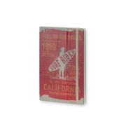 Stifflexible Surf Rider Notebook Red 5X8.25, 192 Pages, 85gsm