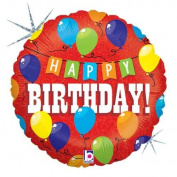 Single Source Party Supplies - 46cm Birthday Party Mylar Foil Balloon
